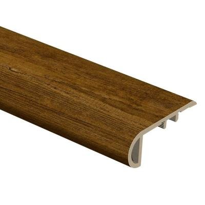 Hickory 3/4 in. Thick x 2-1/8 in. Wide x 94 in. Length Vinyl Stair Nose Molding