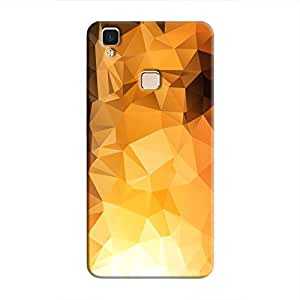 Cover It Up - Gold Sunrise Pixel Triangles Vivo V3 Max Hard Case