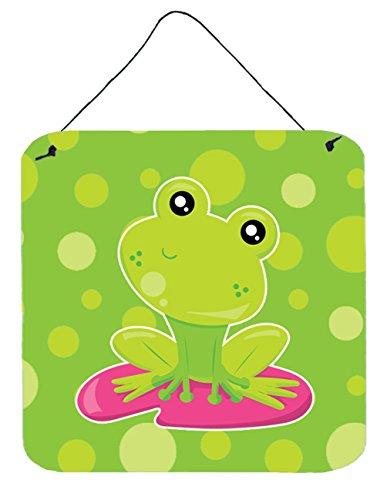 Frog Sign - Caroline's Treasures Frog on Lily Pad Green Polkadots Metal Print, 6