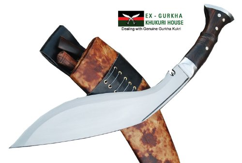 Genuine Gurkha Full Tang Hand Forged Blade Khukri Knife – 13 Blade World War I Historic Kukri – Handmade By Egkh in Nepal Zombie Apocalypse Chopper