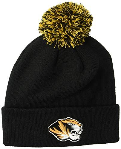 (ZHATS NCAA Missouri Tigers Pom Knit Beanie, Adjustable, Team Color)