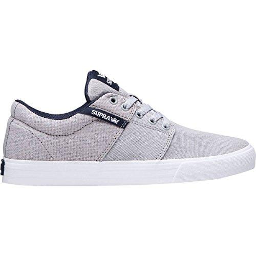 Supra Men's Stacks Vulc II '18,Shoes,12,Lt Grey/Navy-White ()