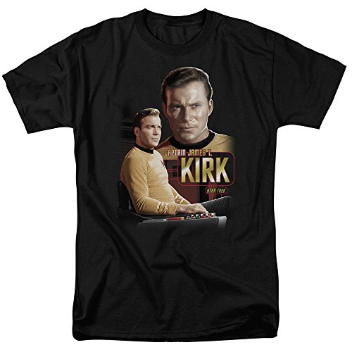 Star Trek-Captain Kirk T-Shirt Size L