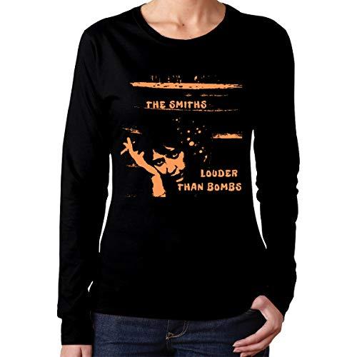 Bvdnfiubhdi-id The Smiths Louder Than Bombs Women's Long Sleeve T Shirt XL Black Bomb Long Sleeve T-shirt