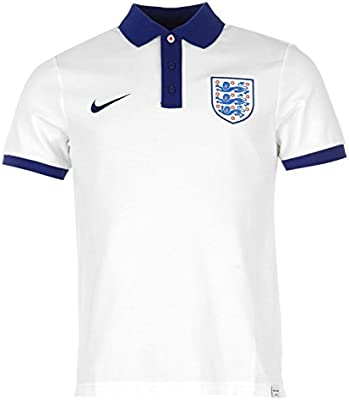 Nike England - Polo para hombre, color blanco/royal de fútbol ...