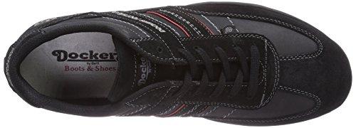 Dockers basses 204100 by Schwarz Sneakers Gerli 36HT001 homme 100 Noir ZTwBqHZ