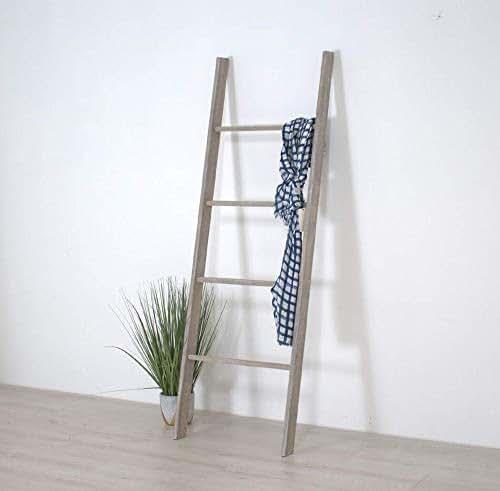 Amazon Com Wooden Decorative Ladder Shelf Blanket Ladder