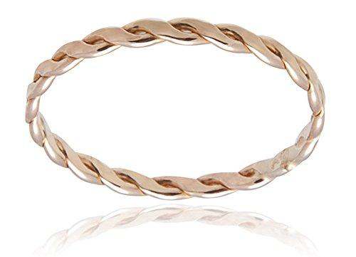 Skinny Braided Ring Midi Filled