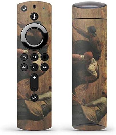 igsticker Fire TV Stick 第2世代 専用 リモコン用 全面 スキンシール フル 背面 側面 正面 ステッカー ケース 保護シール 011467 イラスト 人物 絵画