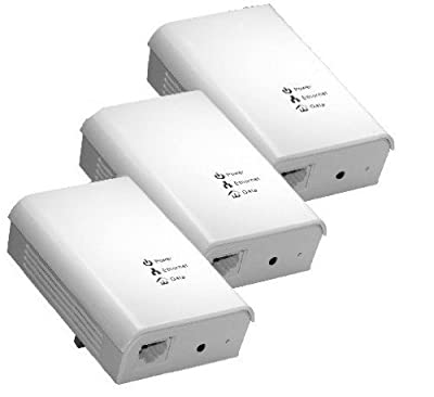 CM3 3x Powerline Network Adapter to 200 Mbps dLAN adapter sockets Power Lan, CM3-NW-030