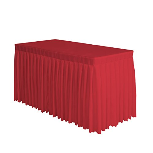 Surmente Tablecloth 14 ft Polyester Table Skirt for Weddings, Banquets, or Restaurants (Red) ... ...
