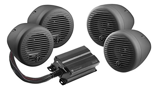 Planet Audio PMC4B Bluetooth, Weatherproof Speaker and Amplifier Sound System, 3'' Speakers, Bluetooth Amplifier, Volume Control, Motorcycles/ATV by Planet Audio