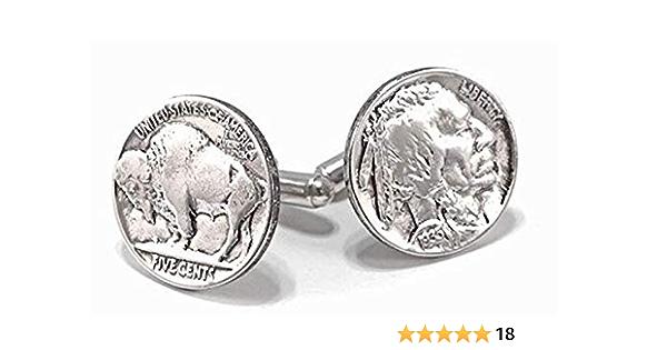 - Genuine Coin Cuff Links Shipping 1a1 Free Silver Cufflink Box FREE U.S U.S.  Buffalo Nickels UNITED STATES Unique Gift