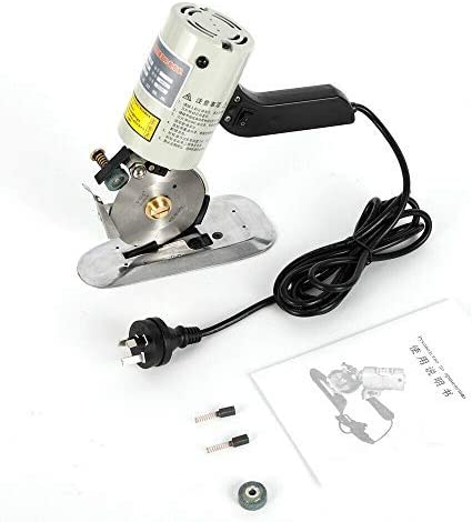 110V Electric Cloth Cutter Fabric Leather Rotary Blade Cutting Scissors Machine