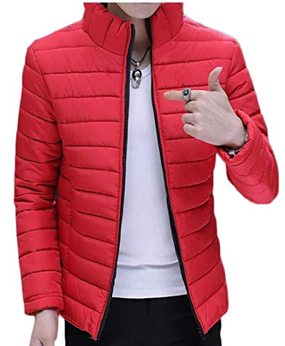 Colletto Ttyllmao Piumino Alla Outwear Rosso Packable Corto Maschile Coreana dqxzFq
