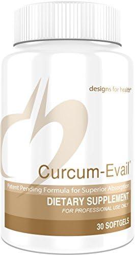 Designs for Health Bioavailable Curcumin Turmeric Oil – Curcum-Evail 30 Softgels