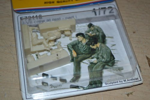 Czech Master Kits (High Quality Cast Product CMK Master's Kit 1/72 U-VII crew at rest Part I (3 figures) MODEL FIGURE KIT F72118)
