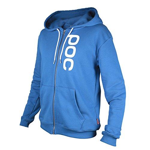POC Hood Zip Skateboarding Hoodie, Krypton Blue, Large