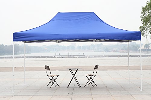 American Phoenix 10x10 10x15 10x20 [White Frame] Portable Event Canopy Tent, Canopy Tent, Party Tent Gazebo Canopy Commercial Fair Shelter Car Shelter Wedding Party Easy Pop Up (Blue, 10x15) - Frame Wedding Canopy