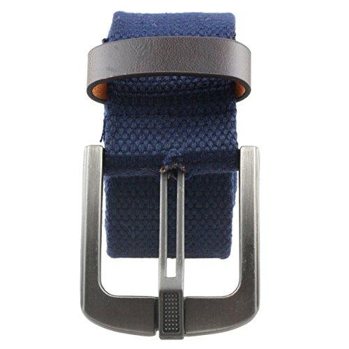 Samtree Canvas Web Belts for Men Women,Braided Solid Color Hole Belt(Blue)