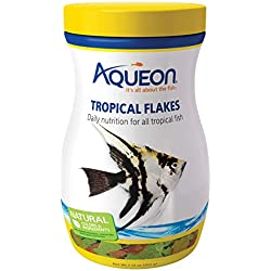 Aqueon Tropical Flakes Fish Food, 7.12-Ounce
