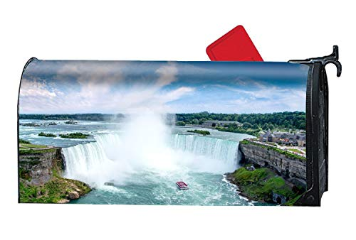 KSLIDS Mailbox Cover Outdoor Decoration, Niagara Falls Waterfall New York USA, Rust-Proof Magnetic Mail Box Covers -