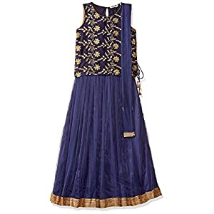 Karigari by Unlimited Girls' A-Line Regular Fit Salwar Suit Set (400017788623)(Colors & Print May Vary)