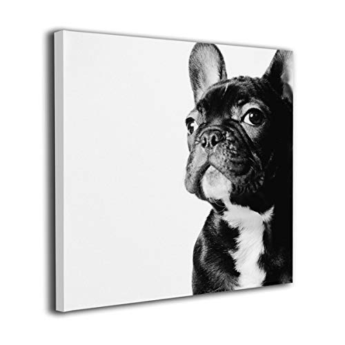 Mintslove Cool French Bulldog Graphics Colorful Unframed Decorative Painting Canvas Wall Art Hanging Picture Artwork Wall Decoration for Living Room Bedroom Home Decor