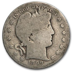1899 S Barber Half Dollar AG Half Dollar About Good