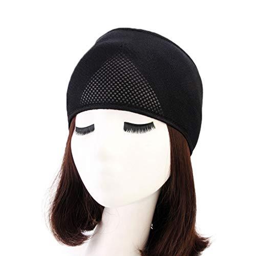 Adjustable Double Headband - Xincu Adjustable Headband, Double Foam Mesh Head Wrap, Black, Unisex