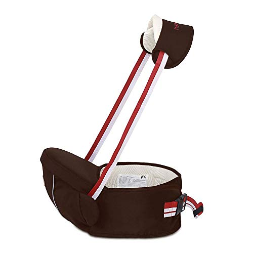 CXYGSJJ Multifunctional 2-in-1 Convertible Baby Carrier, Toddler Hip Seat Carrier,Light/Labor Saving/Beige (Color : Brown)