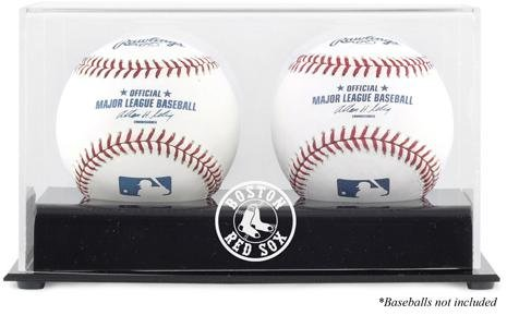 Baseball Logo Deluxe Display Case (Boston Red Sox Deluxe Two Baseball Cube Logo Display Case)
