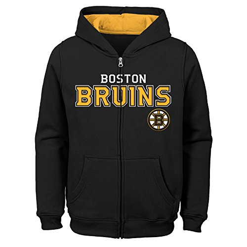 Outerstuff NHL Boston Bruins Youth Boys Stated Full Zip Hoodie, Large(14-16), Black -