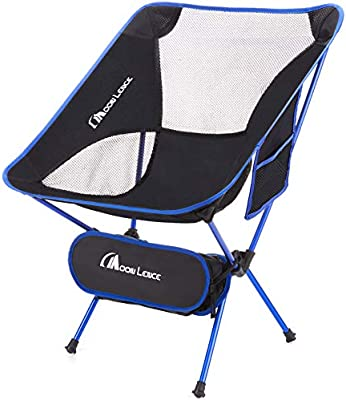 MOON LENCE Outdoor Ultralight Portable Folding Chairs with Carry Bag Heavy Duty 242lbs Capacity