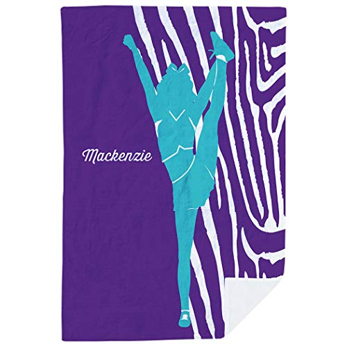 ChalkTalkSPORTS Personalized Cheerleading Premium Blanket | Girl with