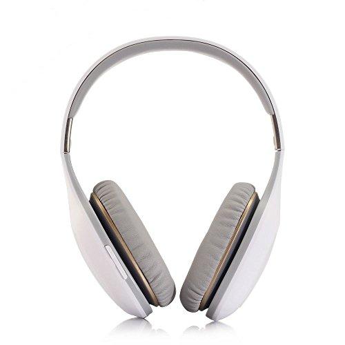 XHKCYOEJ Headset Stereo Headset/Headphones/Headphones/Wireless/Bluetooth/Sports/Wheat/Headphones,White: Amazon.co.uk: Electronics