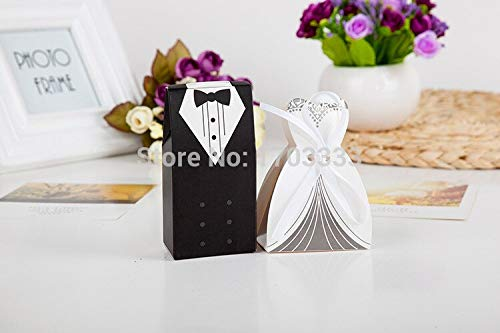 Bride And Groom - Arrival Wedding Favor Box 2000pairs 4000pcs Lot Bride And Groom Gift Candy With Ribbon - Set Game In Glass Alisa Keepsake Nut Napkins Gnome Suit