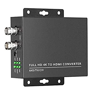 Wsdcam TVI to HDMI Converter Full HD 4K Converter, 1080p/720p/4K/8MP/5MP/4MP/3MP, BNC to HDMI Video Converter Adapter - CVBS/TVI/CVI/AHD to HDMI
