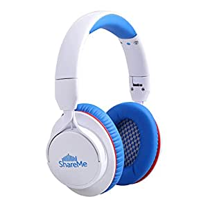 Over Ear Headphones, Mixcder ShareMe Wireless Bluetooth 4.1 Stereo with Built-in Mic, Passive Noise Cancelling and Volume Control for Travel, Work, Sport, Foldable Gym TV Headsets