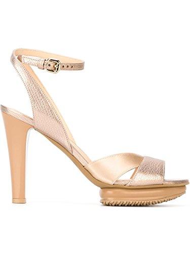 Hogan Mujer HXW2470U830CTL0L65 Oro Cuero Sandalias