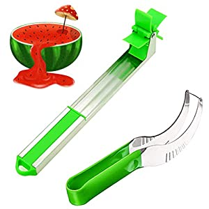 Watermelon Windmill Cutter, Melon Baller Kit, Watermelon Slicing Tool & Stainless Steel Watermelon Windmill Slicer 2 Pack – Kitchen Tools and Gadgets – Watermelon Tap – Fruit Knife