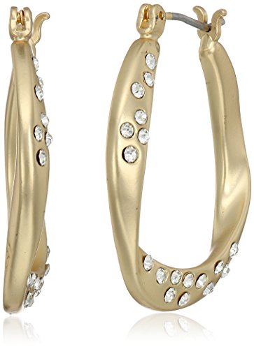 t-tahari-matte-gold-twist-hoop-with-stones-hoop-earrrings