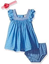 The Children's Place Baby Girls' Chambray Dot Dress