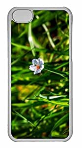iPhone 5C Case, Personalized Custom Fallen Blossom for iPhone 5C PC Clear Case