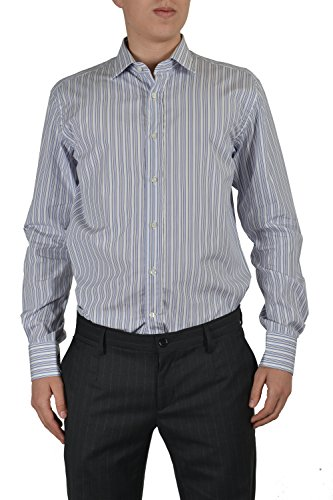 Etro Men's Multicolor Striped Long Sleeve Button Down Dress Shirt US 16 IT 41
