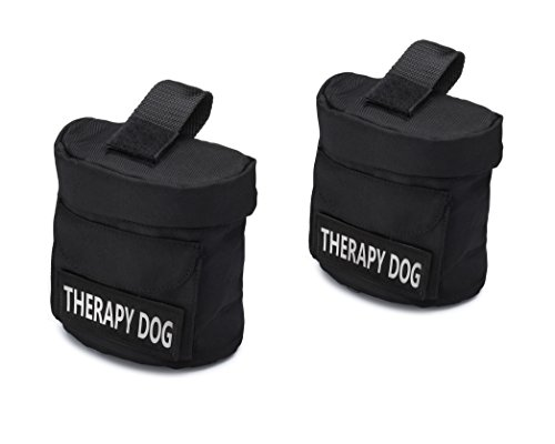"""Industrial Puppy Service Dog Harness Saddle Bags with """"THERAPY DOG"""" Hook Patches by"""