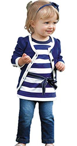 Baby-Girls Infant 3 Piece Jacket and Denim Set