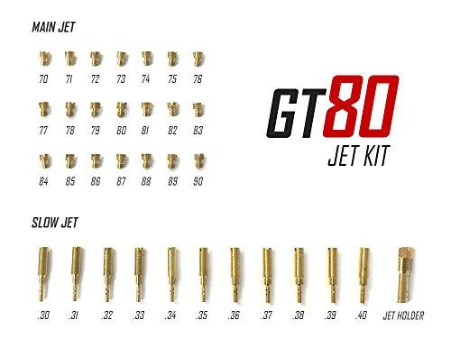 - GT80 Carburetor Jet Kit For Keihin Clone Carburetor - 80CC Gas Motorized Bicycle