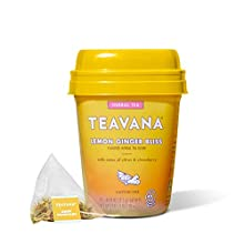 Teavana Lemon Ginger Bliss, Herbal Tea With Citrus & Strawberry, Caffeine Free, 12 Sachets ( Pack Of 4 )