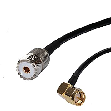 Superbat RF Cable coaxial SMA macho RA a UHF hembra cable Pigtail RG58 100cm